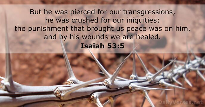 interpretation of isaiah 53 1 5 Study the bible online using commentary on isaiah 53 and more  5 [1] hereby  we have peace: the chastisement of our peace was upon him he,.