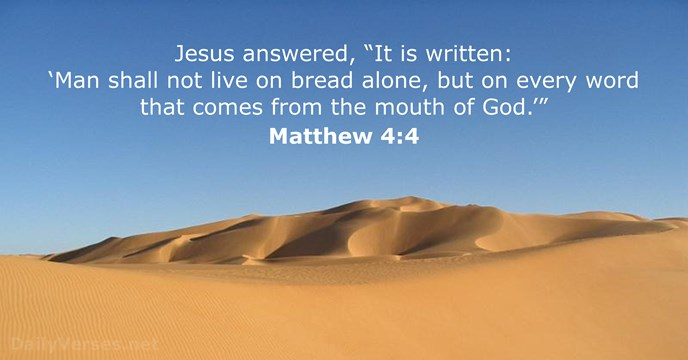Image result for matthew 4:4