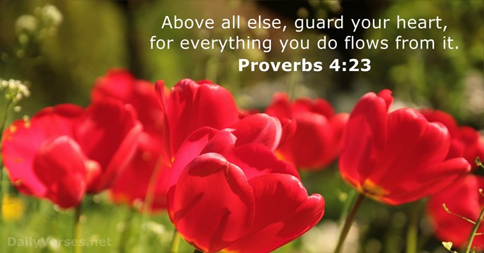 proverbs 4 23 - bible verse of the day