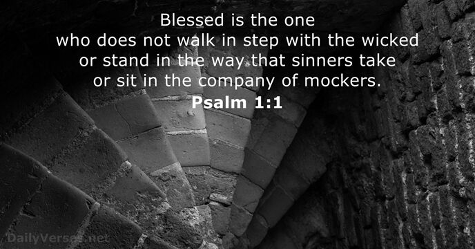 Psalm 1:1 - Bible verse of the day - DailyVerses.net