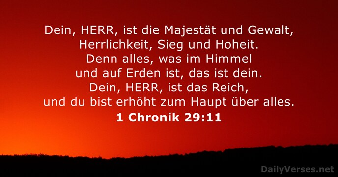 1 Chronik 29:11