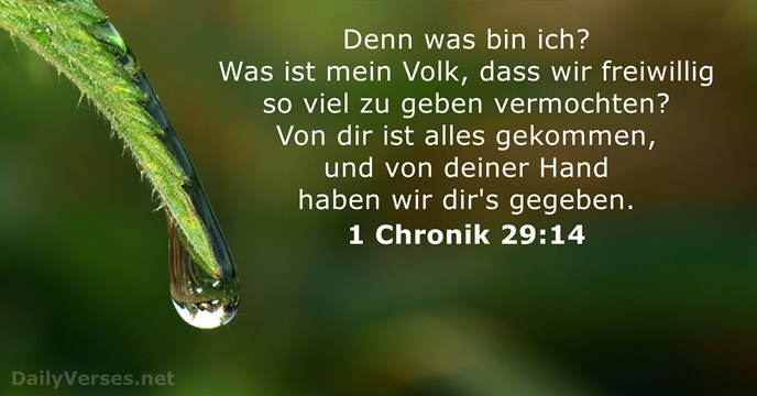 1 Chronik 29:14