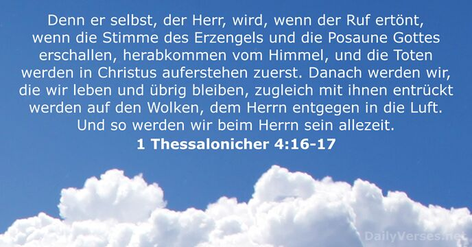 1 Thessalonicher 4:16-17
