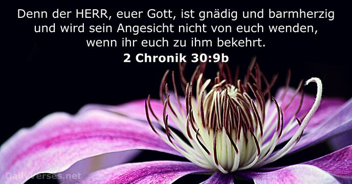 2 Chronik 30:9b