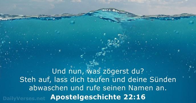 16 Bibelverse über Die Taufe Dailyversesnet