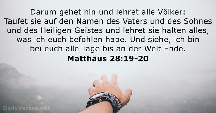 Matthäus 28 19