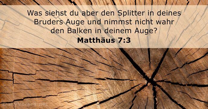 Splitter Im Auge Bibel