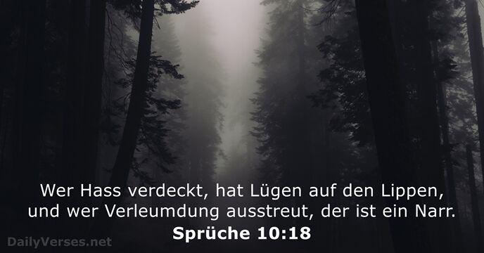 Spruche Uber Lugen.1 November 2019 Bibelvers Des Tages Spruche 10 18