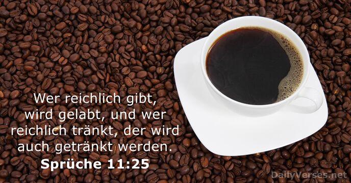 Sprüche 11 25 Neue Evangelistische übersetzung Bibelvers Des