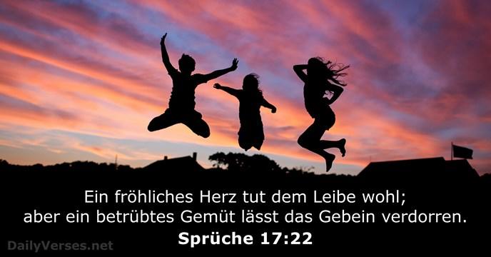 17 Oktober 2019 Bibelvers Des Tages Sprüche 1722