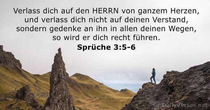sprüche 3 4. Oktober 2018   Bibelvers des Tages   Sprüche 3:5 6  sprüche 3