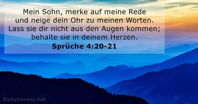 10 Januar 2018 Bibelvers Des Tages Sprüche 420 21
