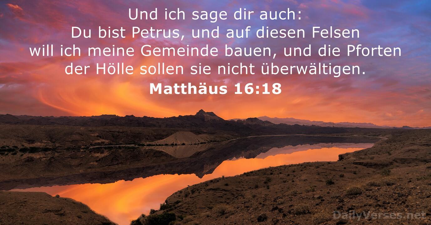 Matthäus 16 18