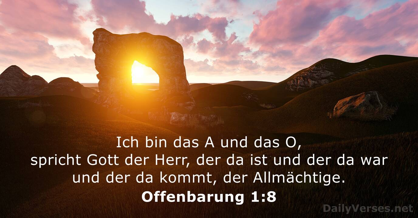 28. Mai 2019 - Bibelvers des Tages - Offenbarung 1:8