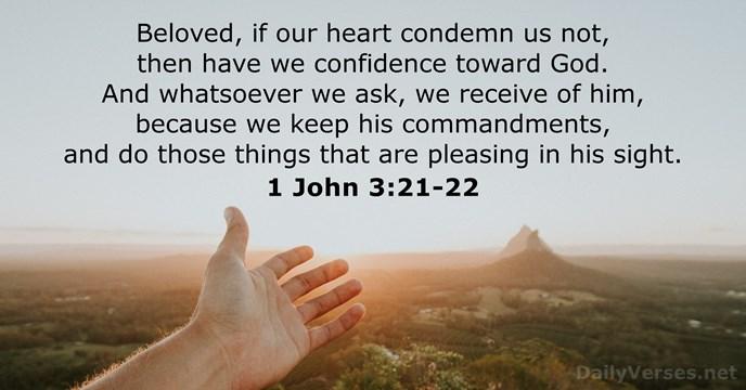 1 John 3:21-22