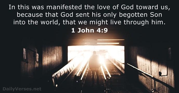 1 John 4:9