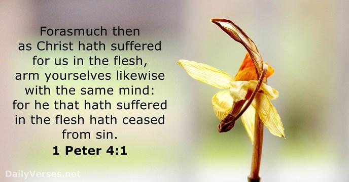 1 Peter 4:1