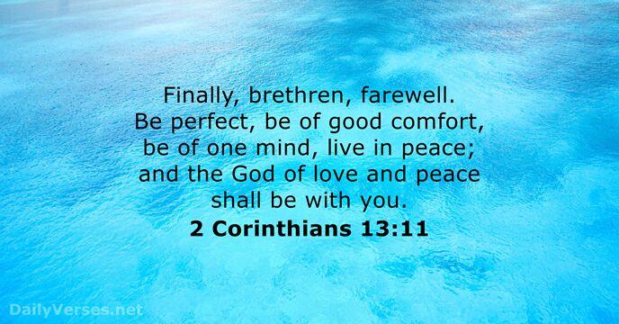 2 Corinthians 13:11 - KJV - Bi...