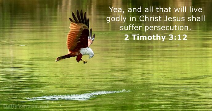 Yea, and all that will live godly in Christ Jesus shall suffer persecution. 2 Timothy 3:12