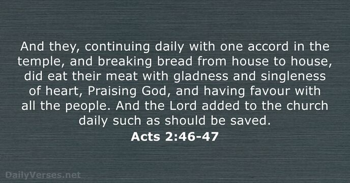 Acts 2:46-47