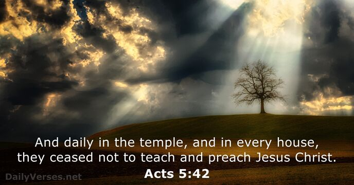 Acts 5:42