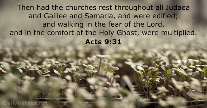 Acts 9:31