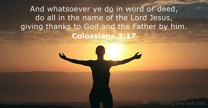 Colossians 3:17