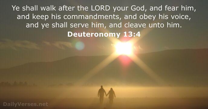 Deuteronomy 13:4