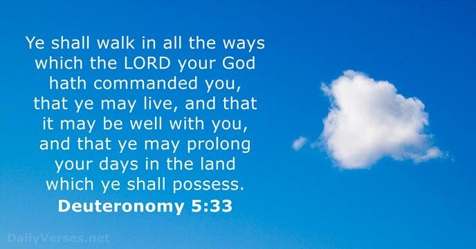 Deuteronomy 5:33