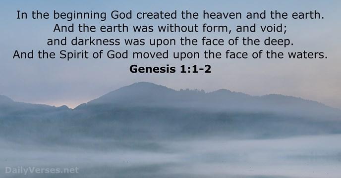 32 Bible Verses about Creation - KJV - DailyVerses.net