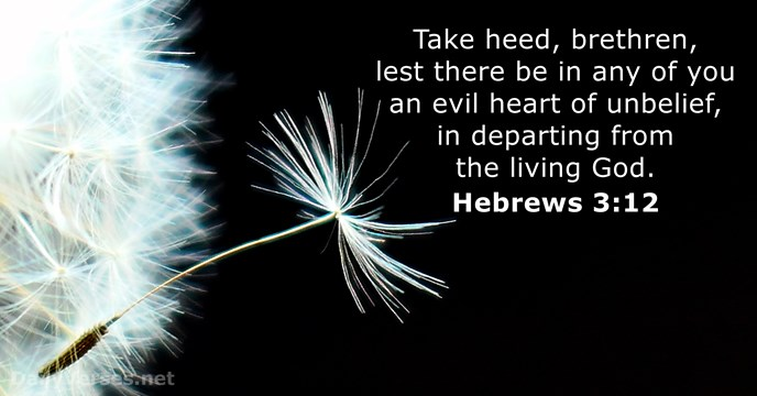 Hebrews 3:12