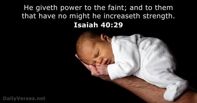 Isaiah 40:29