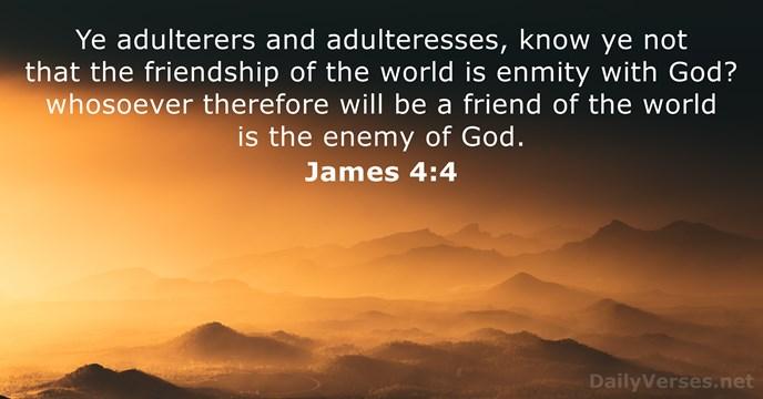 James 4:4