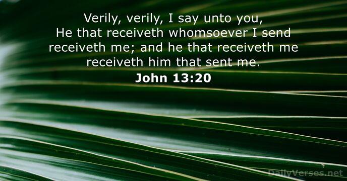 John 13:20