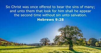 Hebrews 9:28