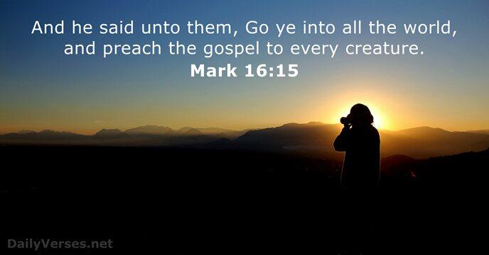 35 Bible Verses about Evangelism - KJV - DailyVerses net
