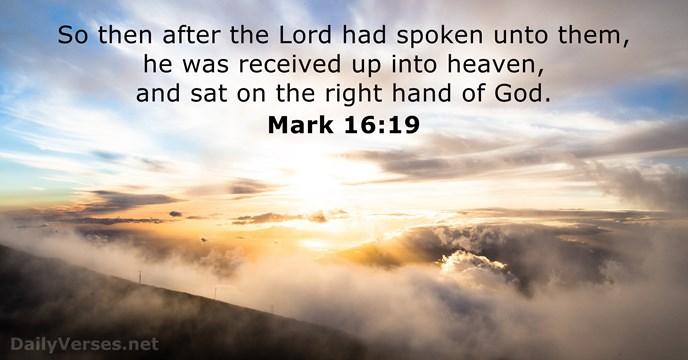 Mark 16:19