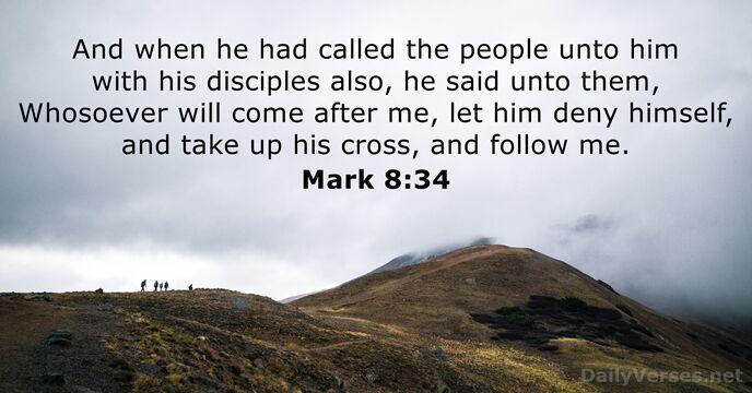 Mark 8:34