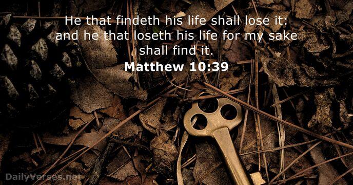 Matthew 10:39