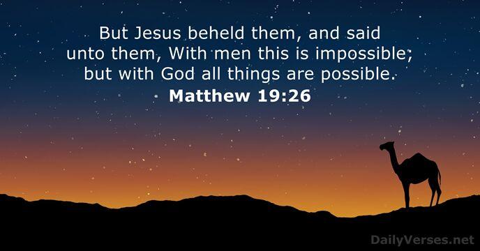 Matthew 19:26