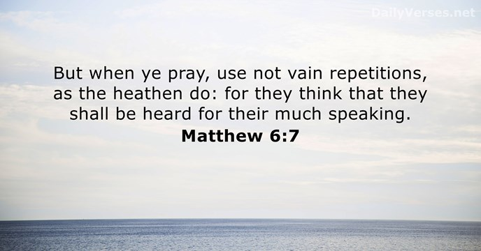 Matthew 6:7