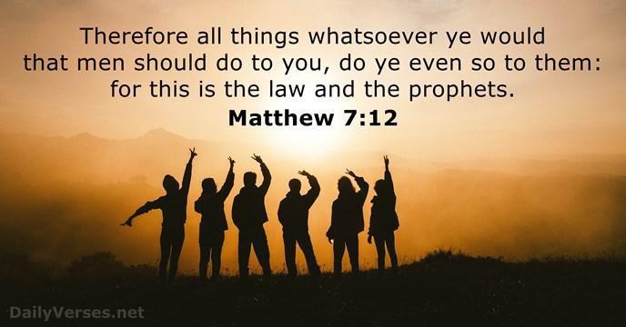 Matthew 7:12