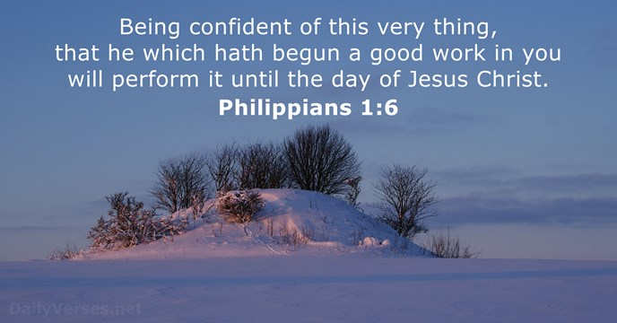 Image result for  he who began a good work in you kjv