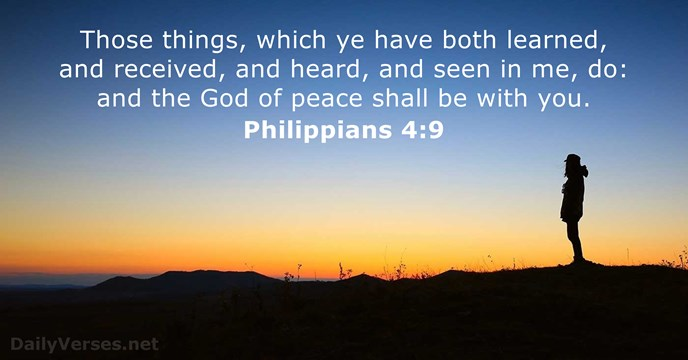 Philippians 4:9 - ESV - Bible verse of the day