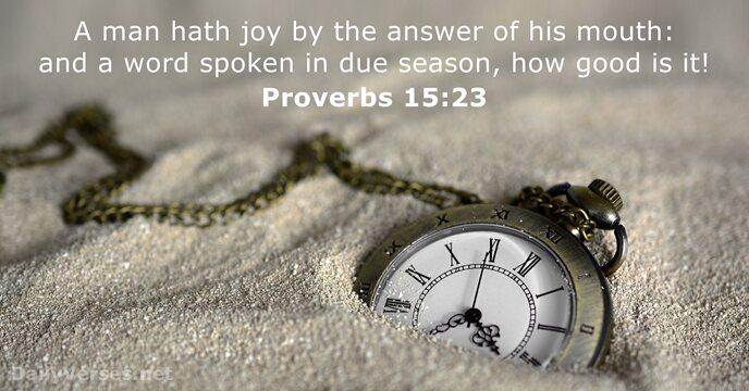 Proverbs 15:23