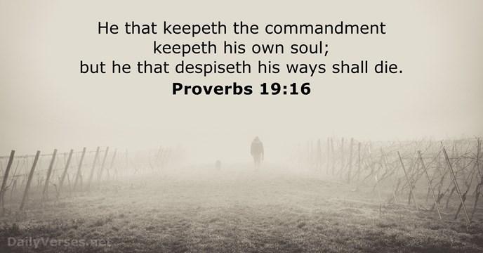 Proverbs 19:16