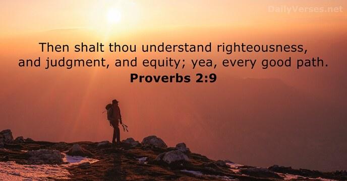 Proverbs 2:9