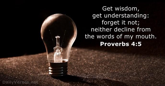 Proverbs 4:5