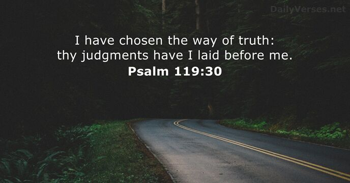 Psalm 119:30