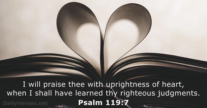 Image result for psalm 119:7 kjv